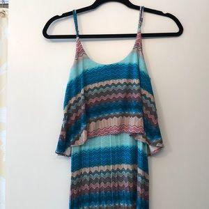 Karina Grimaldi multi color maxi dress. Size small